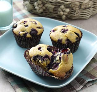 Blueberry Cornmeal Muffins Recipe