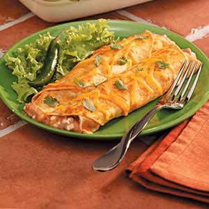 Refried Bean Enchiladas Recipe