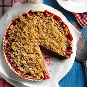 Cherry-Almond Streusel Tart Recipe