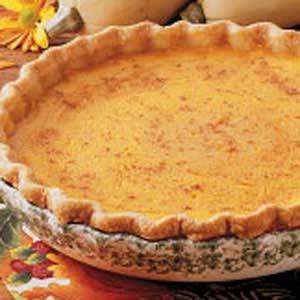 Golden Squash Pie Recipe