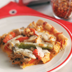 Deep-Dish Chicken Pizza Recipe