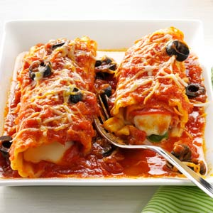 Pizza-Syle Manicotti Recipe