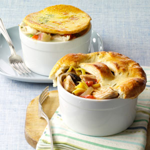 Mediterranean Turkey Potpies Recipe