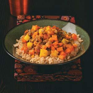 Lentil Sweet Potato Curry Recipe