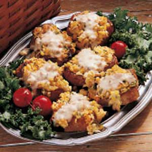 Pork Chops with Corn Dressing Recipe
