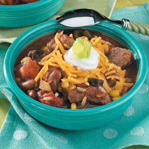 Tender Beef 'n' Bean Stew Recipe
