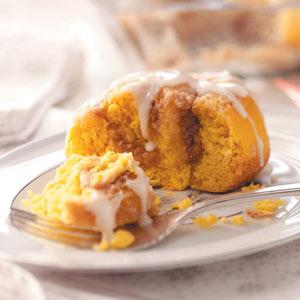 Streusel Pumpkin Sweet Rolls Recipe