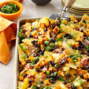 Roasted Pumpkin Nachos Recipe