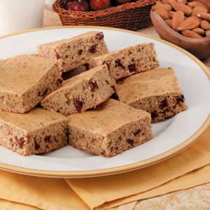 Cherry-Almond Snack Cake Recipe