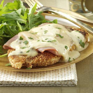 Stacked Chicken Cordon Bleu Recipe