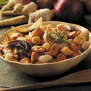 Maple-Gingerroot Vegetables Recipe