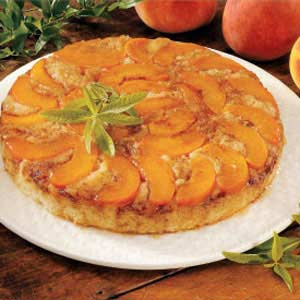 Makeover Peach Upside-Down Cake Recipe