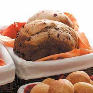 Spiced Cranberry Wheat Bread Recipe