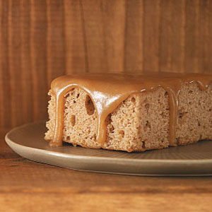 Oatmeal Cake with Caramel Icing Recipe