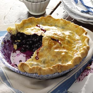 Blueberry Pie with Lemon Crust Recipe