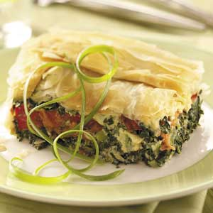 Spinach-Tomato Phyllo Bake Recipe