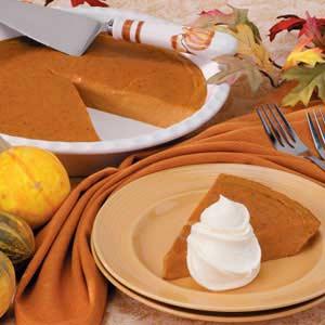 Low-Calorie Pumpkin Pie Recipe