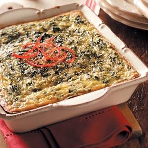 Green 'n' Gold Egg Bake Recipe