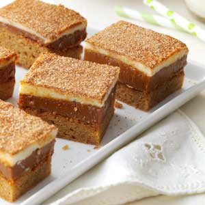 Caramel Snickerdoodle Bars Recipe