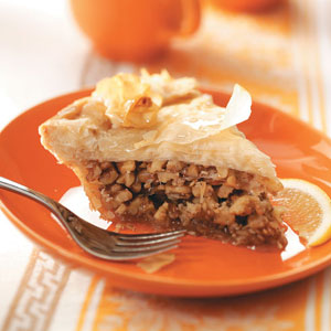 Greek Honey Nut Pie Recipe
