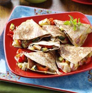Roasted Vegetable Quesadillas Recipe