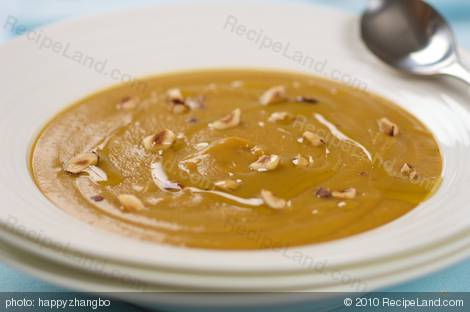 Hearty Roasted Butternut Squash and Apple Soup