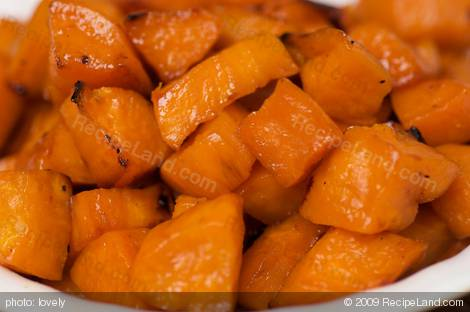 Paleo Maple Syrup Roasted Sweet Potatoes