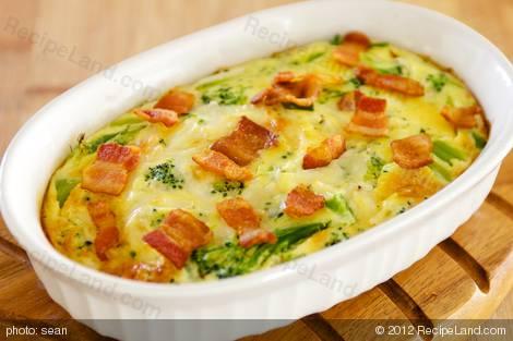 Broccoli Bacon Quiche (Crustless)
