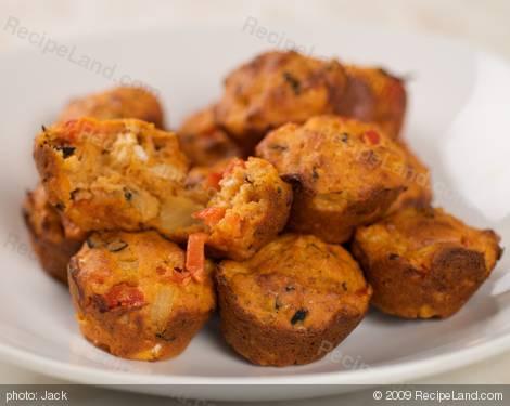 Greek Pizza Mini Muffins