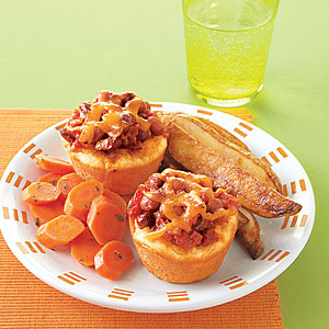 Chili-Cheese Biscuit Pies