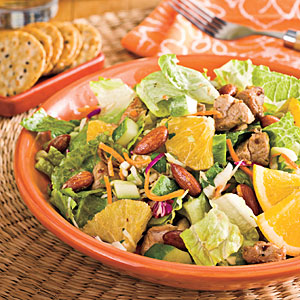Spicy Pork-and-Orange Chopped Salad