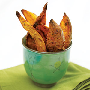 Oven-Roasted Sweet Potato Wedges