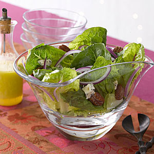 Romaine, Blue Cheese and Spiced-Pecan Salad