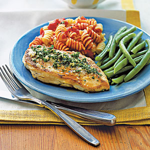Herb-Parmesan Chicken Breasts