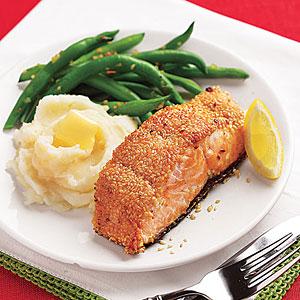 Seared Sesame-Crusted Salmon