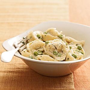 Creamy Tortellini With Peas