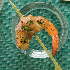 Peppered Pancetta-Wrapped Shrimp