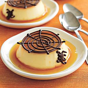 Spooky Crème Caramels