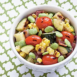 Grilled Summer Veggie Succotash