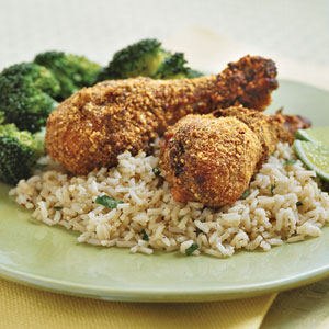 Peanut-Baked Chicken