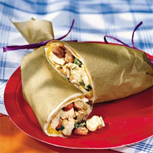 Chicken-and-Bean Slaw Wraps