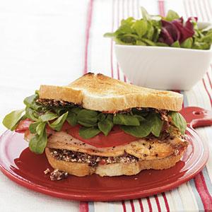 Tilapia Sandwich with Greek Tapenade