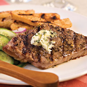 Strip Steak With Rosemary Butter