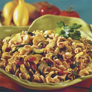 Vegetable-Bacon Noodle Toss