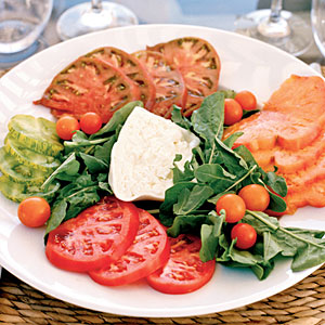 Heirloom Tomatoes with Burrata