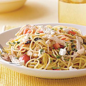 Speedy Spaghetti with Chicken and Fresh Tomato