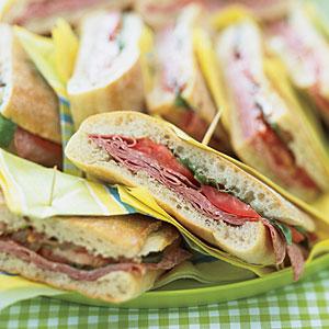 Pressed Mediterranean Sandwiches