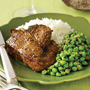 Lamb Chops with Basmati Rice
