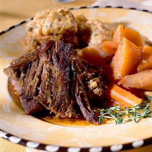 Pot Roast with Dumplings