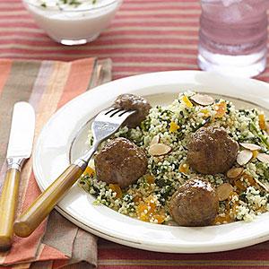 Lamb Meatballs over Couscous